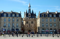 Porte Cailhau in Bordeaux Royalty Free Stock Photo