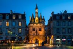 Porte Cailhau en Burdeos, Francia Fotografía de archivo libre de regalías