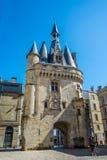 Porte Cailhau gate in Bordeaux, France Stock Image