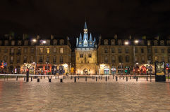 Porte Cailhau in the night Royalty Free Stock Images