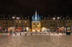 Porte Cailhau in the night Royalty Free Stock Photos