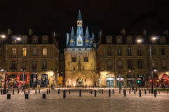 Porte Cailhau in the night Stock Photography