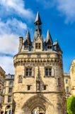 Porte Cailhau, uma porta medieval no Bordéus, França fotografia de stock royalty free