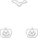 Porte-cartes de Halloween Photos stock