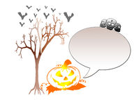 Porte-cartes de Halloween Photo stock