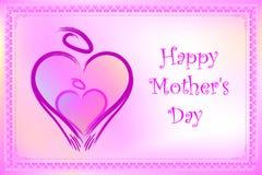 Porte-cartes du jour de mère Photo libre de droits
