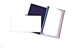 Porte-cartes et carte Photographie stock libre de droits