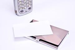Porte-cartes et téléphone  Images libres de droits