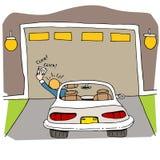 Porte cassée de garage illustration libre de droits