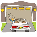 Porte cassée de garage Photo libre de droits