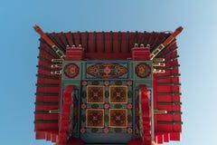 Porte chinoise à Chinatown Photo stock