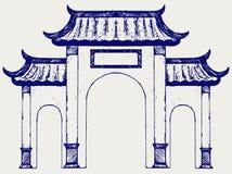 Porte chinoise antique Photographie stock libre de droits