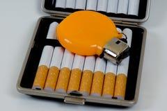 Porte-cigarettes de tabac photo stock