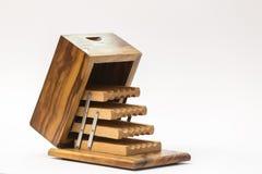 Porte-cigarettes en bois articulé photo stock