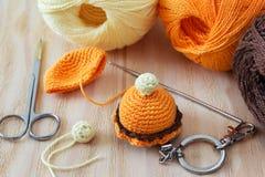 Porte-clés coloré fait main de bonbons à crochet Image libre de droits