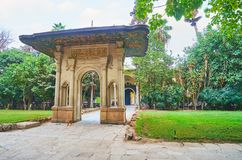 Porte cochere门, Manial宫殿,开罗,埃及 图库摄影