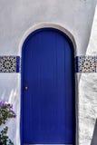 Porte colorée à la Carmel-par-le-mer Photo stock