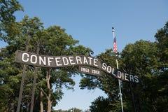 Porte confédérée de cimetière Image stock