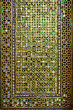 Porte décorée du verre coloré Image stock