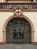 Porte décorative à Fribourg Images libres de droits