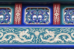 Porte décorative sur Gerrard Street, Chinatown, Londres, Royaume-Uni Photos stock