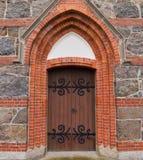 Porte d'église à l'église de sönnarslov de v Photographie stock libre de droits