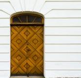 Porte d'église de Grevie au churuh de grevie Images stock