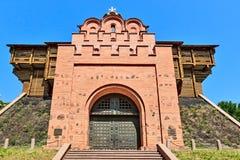 Porte d'or, établie en 1037 de Kyiv. Photo stock