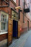Porte d'étape dans la rue arrière Photo stock