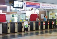 Porte d'accès de gare images stock