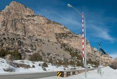 Porte d'Access de route de montagne photographie stock libre de droits