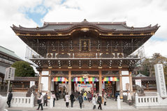 porte d'Ainsi-lundi, temple de Narita-san, près de Tokyo, le Japon Photo libre de droits