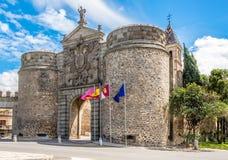 Porte d'Alfonso VI (Puerta de Alfonso VI) à Toledo Photographie stock