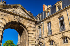 Porte d`Aquitaine, a XVIII century gate in Bordeaux, France Royalty Free Stock Photography