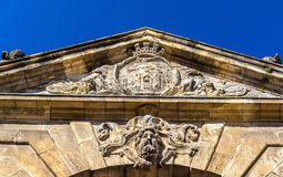 Porte d`Aquitaine, a XVIII century gate in Bordeaux, France Royalty Free Stock Images