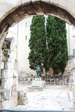 Porte d& x27; Augustus, Nîmes, Frankrijk Stock Afbeeldingen