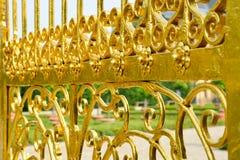 Porte d'or dans des jardins de Herrenhausen, Hanovre, Allemagne Photographie stock