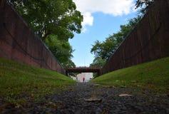 Porte d'eau japonaise il y a 100 ans Photo libre de droits