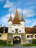 Porte d'Ecaterina dans la ville de Brasov Photo stock