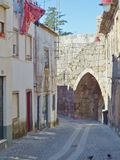 Porte d'EL Rei aux murs de Guarda Image libre de droits