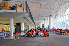 Porte d'embarquement d'aéroport international de Hong Kong Image libre de droits