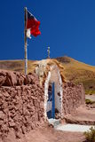 Porte d'entrée d'église Village de Machuca San Pedro de Atacama Région d'Antofagasta chile photographie stock