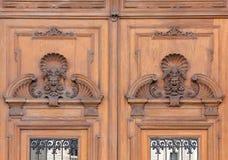 Porte d'entrée de Lloyd Palace à Trieste image stock