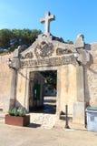Porte d'entrée de Monastery Santuari de Cura sur Puig de Randa, Majorca Photographie stock libre de droits