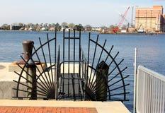 Porte d'entrée de point d'accès de port, Norfolk du centre la Virginie Photo libre de droits