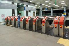 Porte d'entrée de station de MRT de Kuala Lumpur Mass Rapid Transit images stock