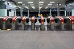 Porte d'entrée de station de MRT de Kuala Lumpur Mass Rapid Transit photo stock