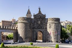 Porte d'entrée de ville de Toledo image stock