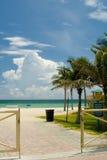 Porte d'entrée sur une plage Photo stock