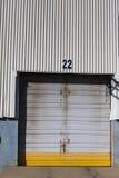 Porte d'entrepôt Photo stock